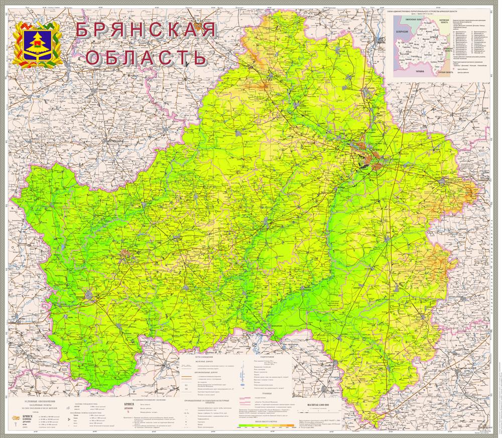 карта с фото брянской области посвящён актуальной